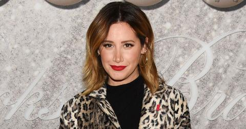 Ashley Tisdale Smiles For the camera At a Photoshoot