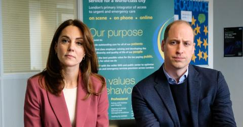 Prince William and Kate Middleton visit the London Ambulance Service