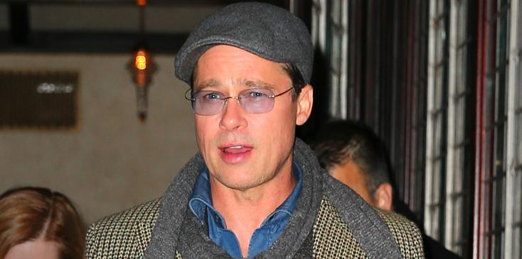 """Brad Pitt heads out of his hotel in NYC, to promote his new Film """"The Big Short"""""""