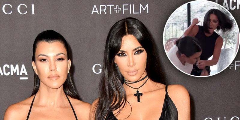 Kim Kardashian Throws A Punch At Kourtney Kardashian