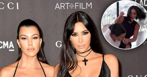 Kim Kardashian Throws A Punch At Kourtney Kardashian