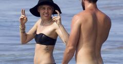 *PREMIUM EXCLUSIVE* Miley Cyrus & Patrick Schwarzenegger Get Frisky In Hawaii  *NO WEB, MUST CALL FOR PRICING*