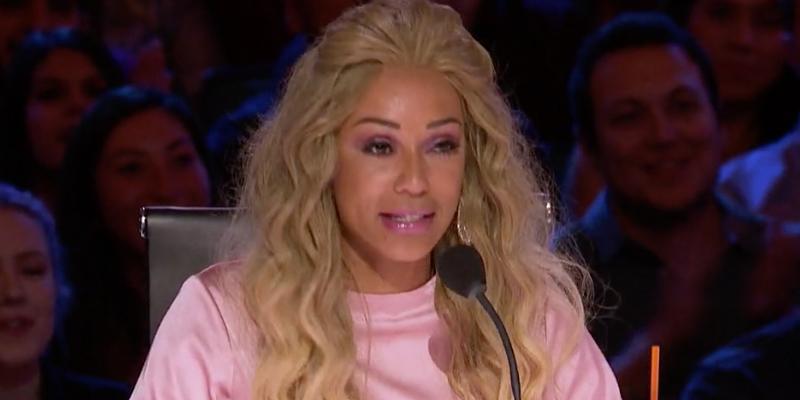 Mel b blonde wig leaves simon cowell speechless hero
