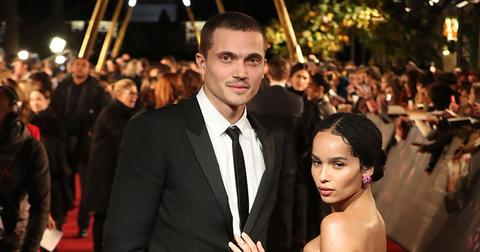 Zoe kravitz karl glusman red carpet appearance engagement main
