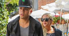 Expecting Ashlee Simpson and Evan Ross have lunch for three at The Ivy