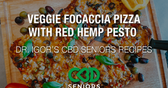 Dr. Igor's Veggie Focaccia Pizza with Red Hemp Pesto Recipe