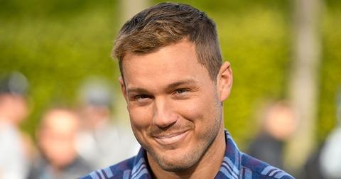 """UNIVERSAL CITY, CALIFORNIA - JANUARY 08: Colton Underwood visits """"Extra"""" at Universal Studios Hollywood on January 08, 2019 in Universal City, California. (Photo by Noel Vasquez/Getty Images)"""