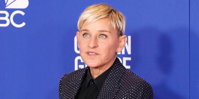 Ellen Degeneres wearing a crystal studed suit