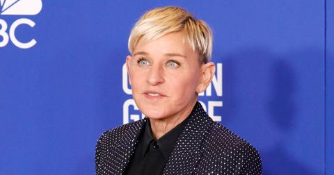 Ellen Degeneres wearing a crystal studed suit