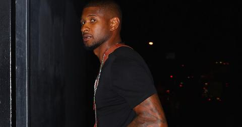 Usher steps out without his wedding ring