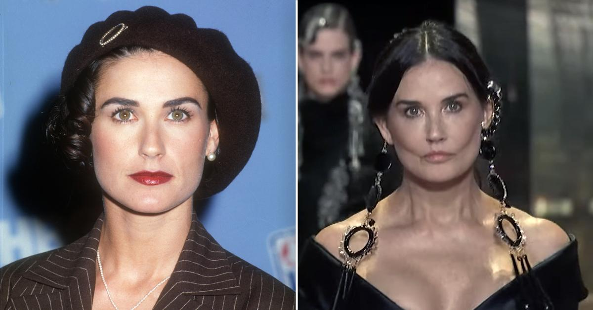 From Flirty 30 To Her Shocking Runway Debut, A Look At How Demi Moore's Face Has Transformed (Or Not!) Through The Years