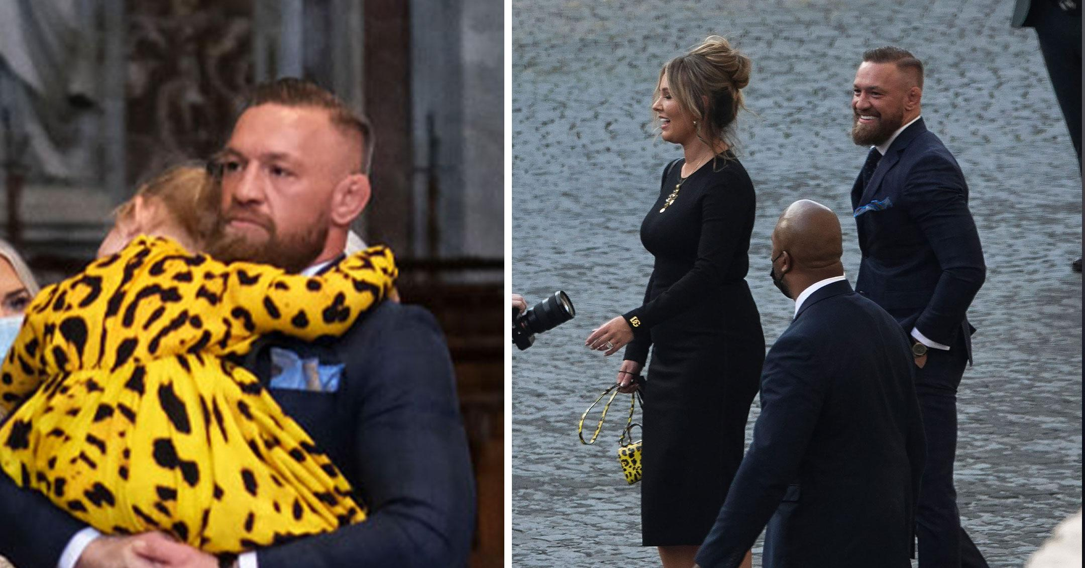 conor mcgregor and wife are spotted inside the vatican for the christening of son pp