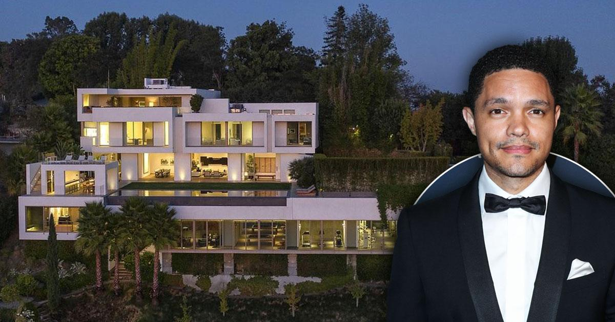 Comedy Pays: Trevor Noah Drops $27.5 Million On Massive Bel Air Mansion: See Photos Of Infinity Pool, Sauna & More