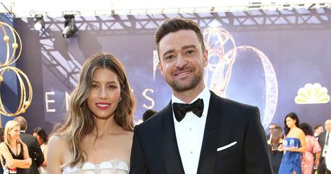 Justin Timberlake And Jessica Biel On Red Carpet