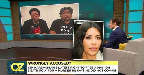Dr Oz show Julius Jones' sisters, Kim Kardasahian inset