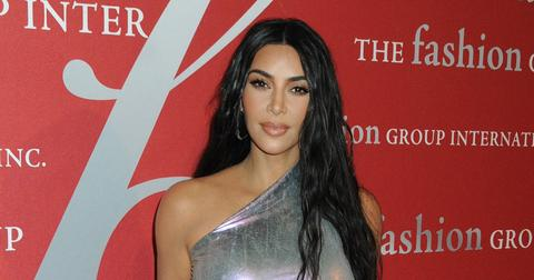 Kim Kardashian Wearing Silver Dress