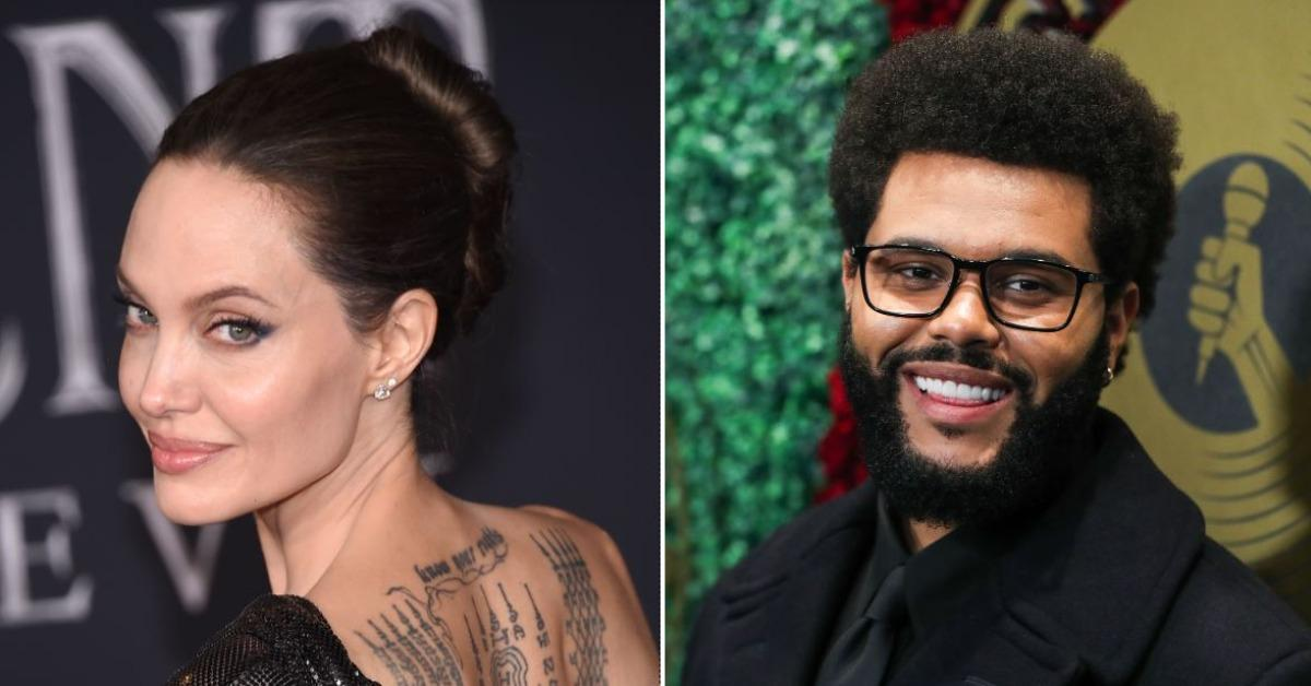 angelina jolie the weeknd spark dating rumors after being spotted having dinner at upscale italian restaurant