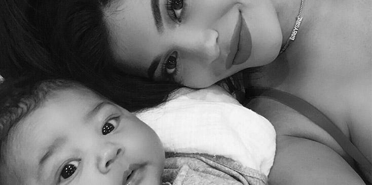 Kylie jenner shares selfie with stormi pics