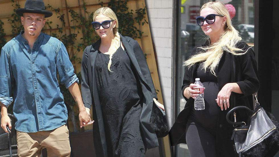 Pregnant ashlee simpson evan ross date lunch