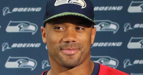Russell Wilson at NFL - Seattle Seahawks Press Conference