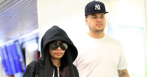 EXCLUSIVE: Blac Chyna and Rob Kardashian at the airport in NYC