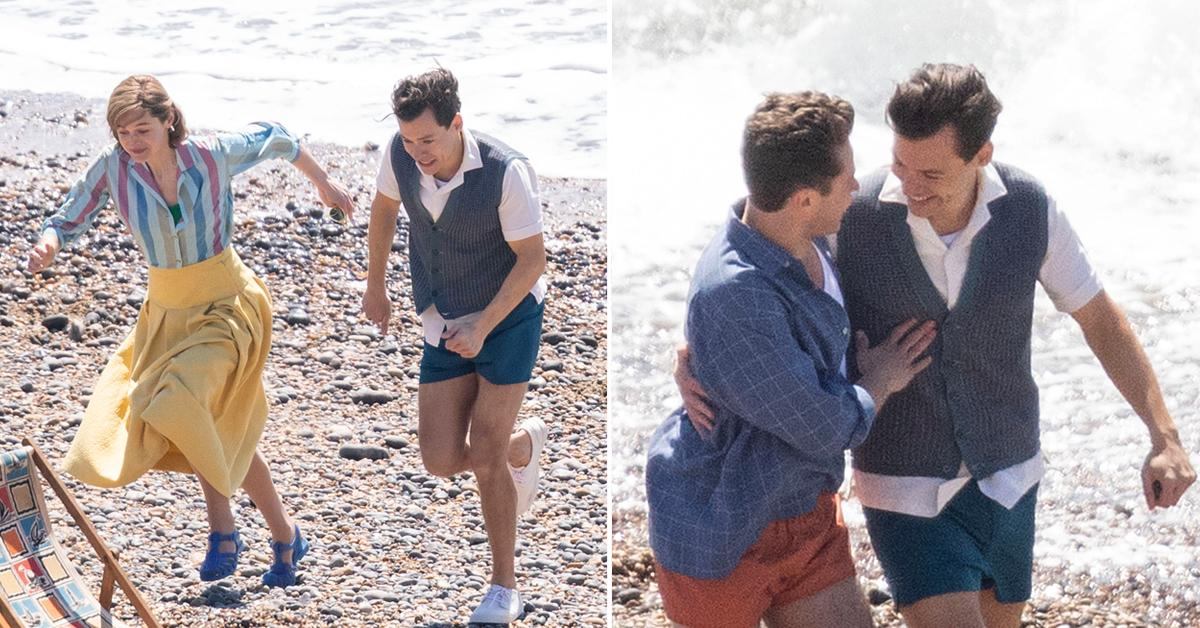 harry styles and emma corrin film my policeman in east sussex