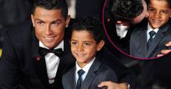 Cristiano ronaldo and son junior red carpet premiere