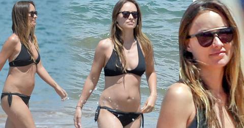 olivia wilde pregnant bikini body family vacation