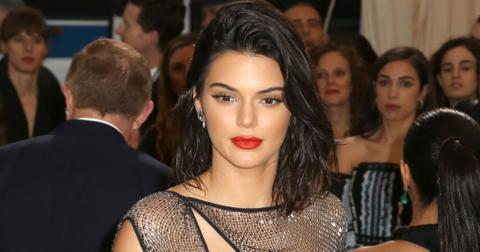 Kendall Jenner wows in a very revealing dress at the 2017 Met Gala