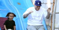 EXCLUSIVE: ***PREMIUM EXCLUSIVE RATES APPLY*** Rob Kardashian enjoys a day at Legoland with girlfriend Blac Chyna and rides a slide with her son King Cairo in LA
