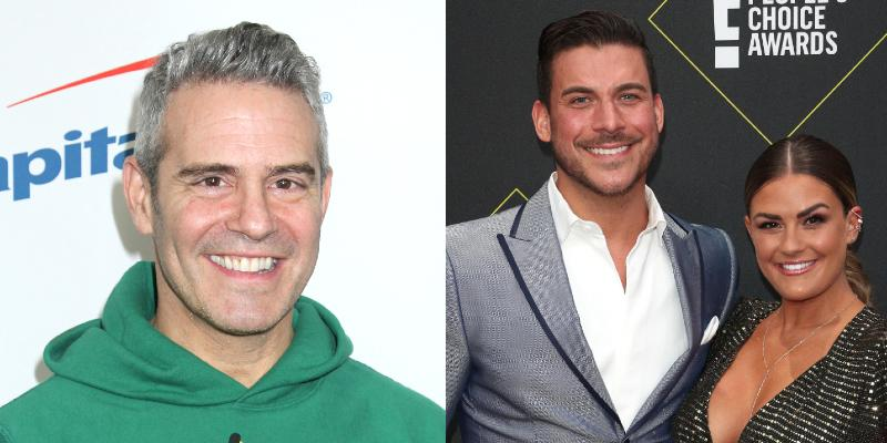 Andy Cohen, Jax Taylor and Brittany Cartwright