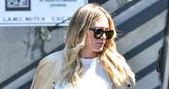 hilary duff baby bump a day of pampering pics pp