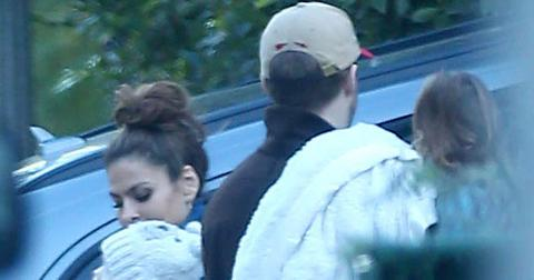 Exclusive… Premium: Ryan Gosling And Eva Mendes Visit Family In LA***NO USE W/O PRIOR AGREEMENT – CALL FOR PRICING***