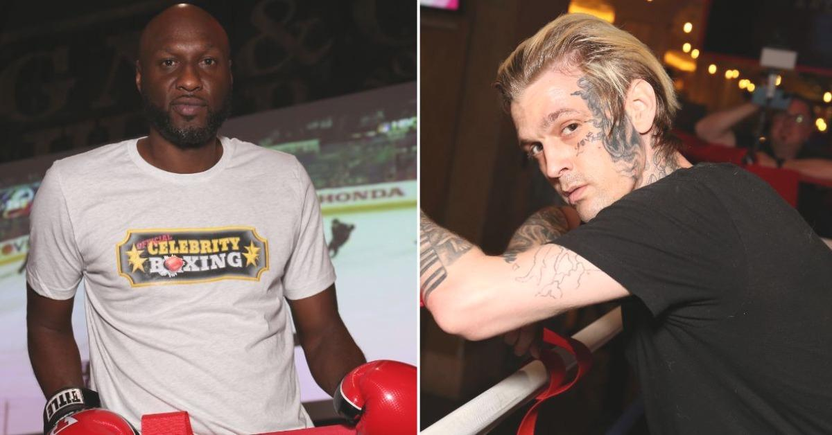 lamar odom knocks out aaron carter in action packed celebrity boxing debut