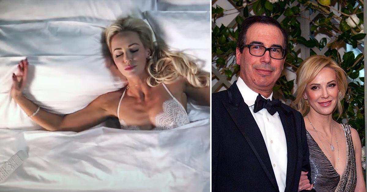 steven mnuchin wife louise linton oozes sex appeal new film ed westwick pf