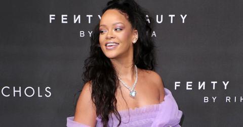 Rihanna slays london in purple dress wide