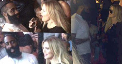 khloe kardashian dating james harden chris brown party