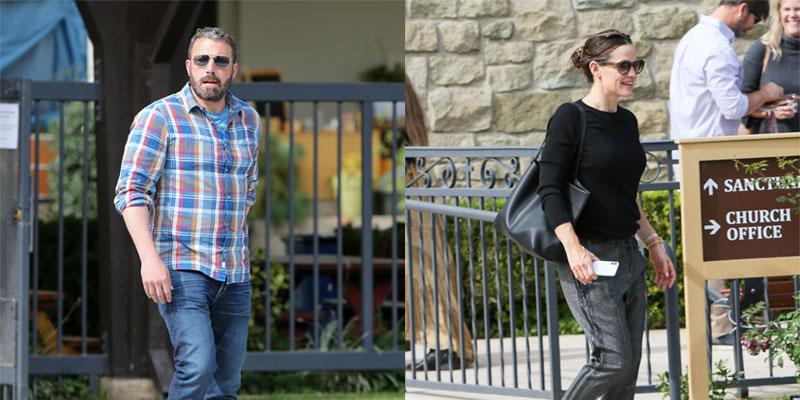 Ben Affleck Jen Garner kids church