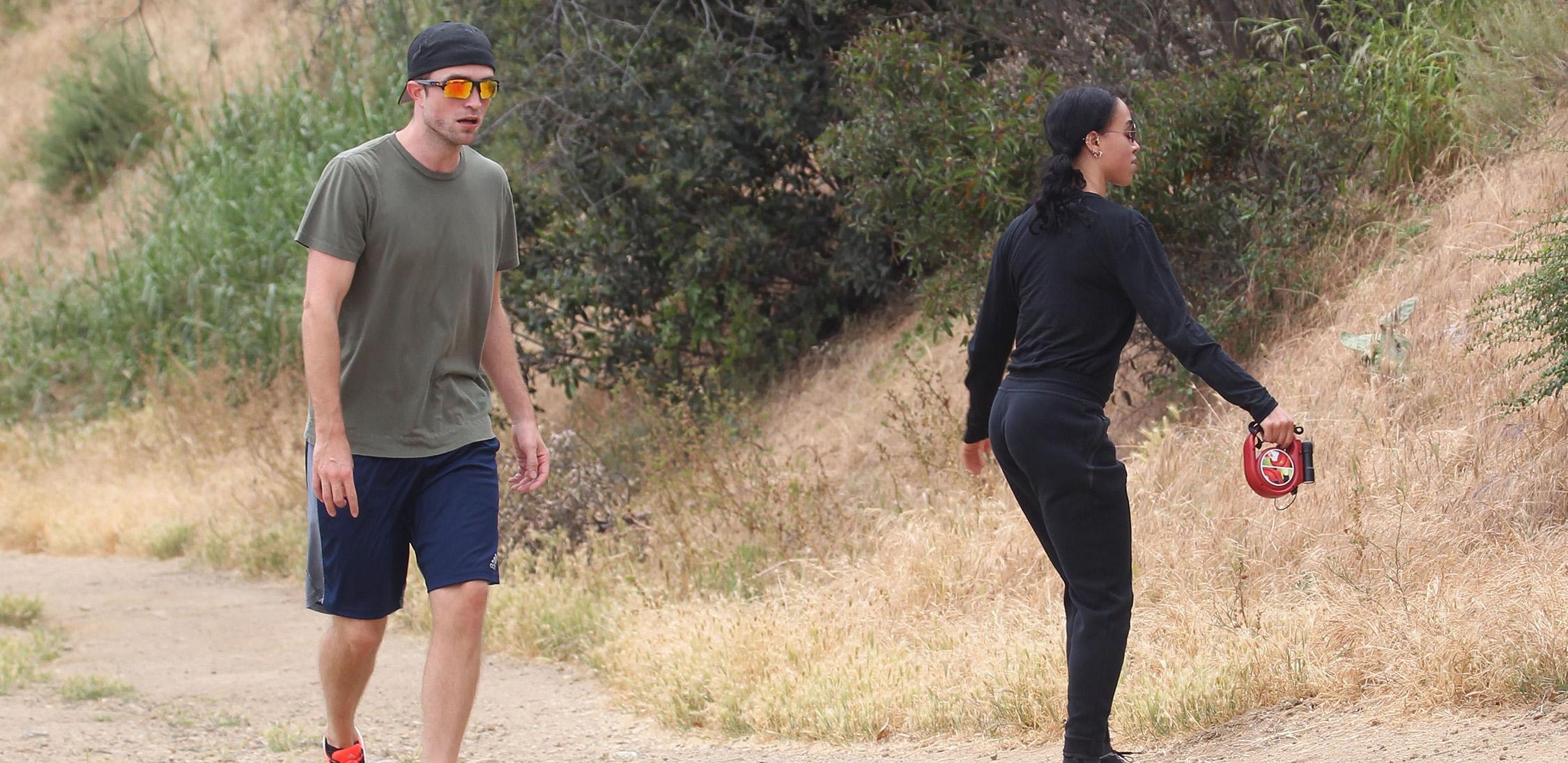 *EXCLUSIVE* Robert Pattinson and FKA Twigs work up a sweat in Malibu