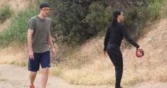 *EXCLUSIVE* Robert Pattinson and FKA Twigs work up a sweat in Malibu