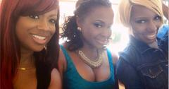 Kandi Burruss Phaedra Parks and NeNe Leaks