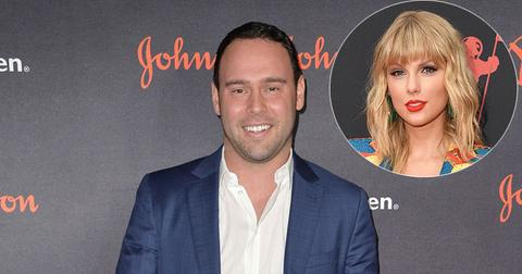 Scooter Braun On Red Carpet Taylor Swift Inset