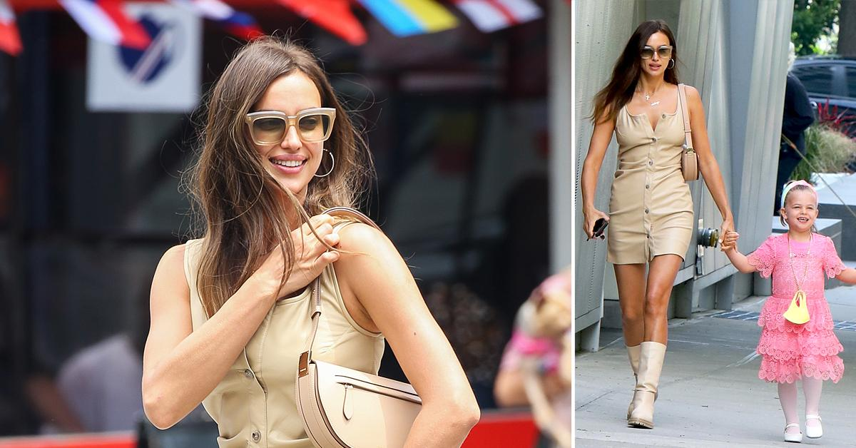 irina shayk and her daughter lea cooper are seen walking home in nyc