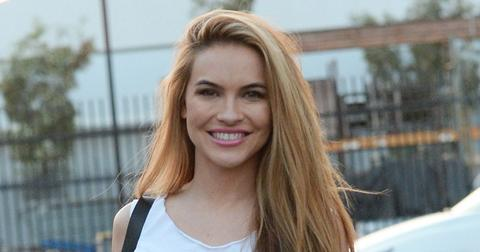 Chrishell Stause Wearing A White Shirt