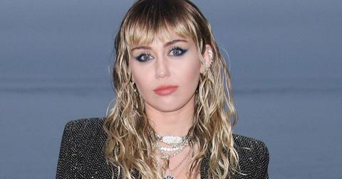 Miley Cyrus Black Blazer Wet Hair Cryptic Instagram Goodbyes Kaitlynn Carter Split
