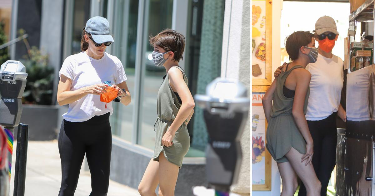 jennifer garner and seraphina affleck are seen in los angeles