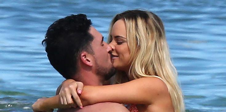 *PREMIUM EXCLUSIVE* Amanda Stanton and Josh Murray can't keep their hands off each other **NO WEB USAGE WITHOUT AGREED FEE**