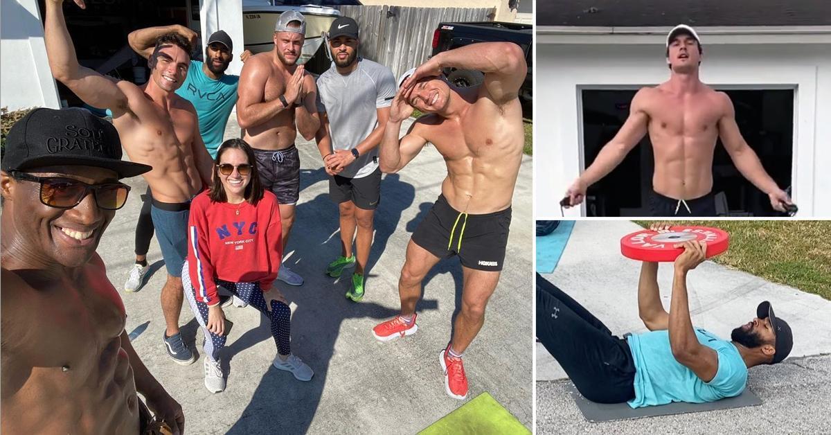 matt james tyler cameron workout friends pf