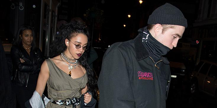 EXCLUSIVE: Robert Pattinson Romances FKA Twigs With Dinner Date At Groucho in Soho
