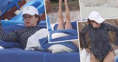 Debra Messing Bikini Sunbathing Mexico